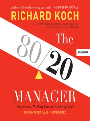 cover image of The 80/20 Manager