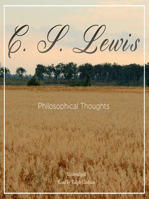 cover image of Philosophical Thoughts