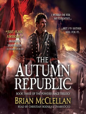 cover image of The Autumn Republic