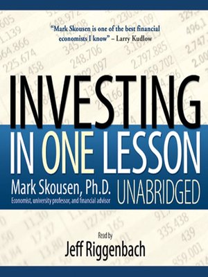 cover image of Investing in One Lesson
