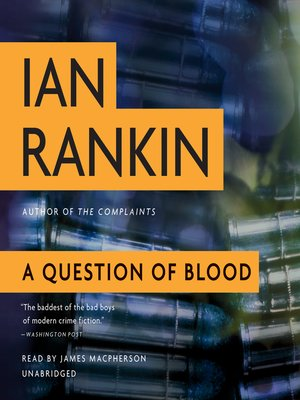cover image of A Question of Blood
