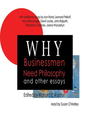 cover image of Why Businessmen Need Philosophy and Other Essays