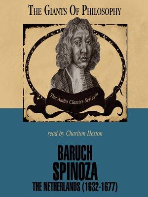 cover image of Baruch Spinoza