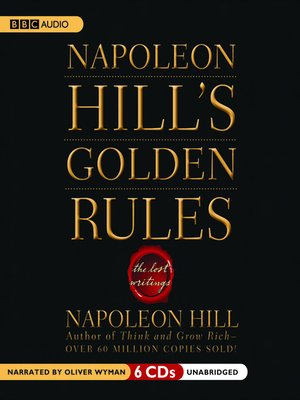 cover image of Napoleon Hill's Golden Rules