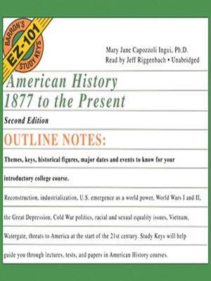 cover image of American History, 1877 to the Present, Second Edition