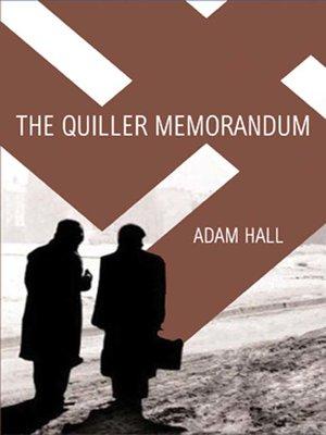 cover image of The Quiller Memorandum