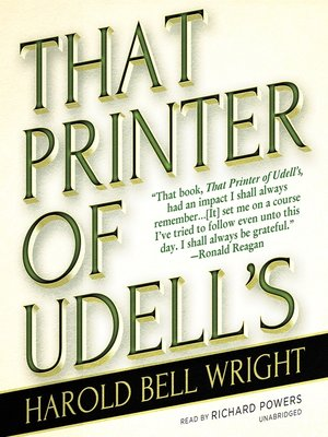 cover image of That Printer of Udell's