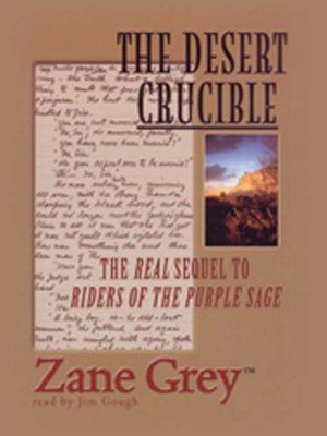 Cover Image Of The Desert Crucible