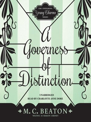 cover image of A Governess of Distinction