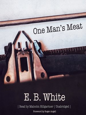 cover image of One Man's Meat