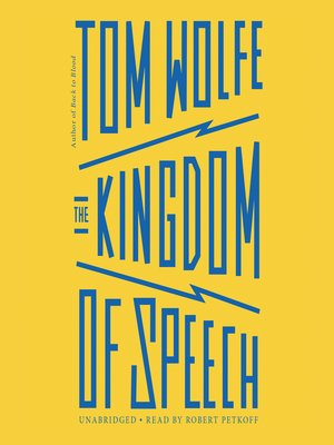 cover image of The Kingdom of Speech