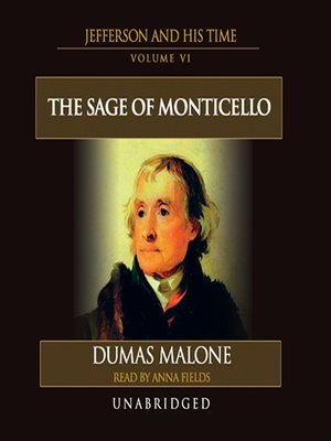 cover image of Thomas Jefferson and His Time, Volume VI