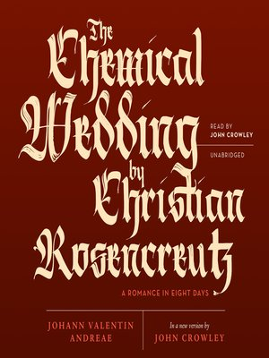 cover image of The Chemical Wedding by Christian Rosencreutz