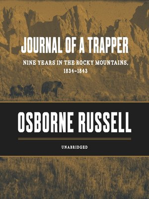 cover image of Journal of a Trapper