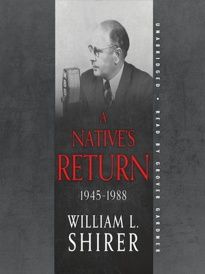 cover image of A Native's Return, 1945–1988