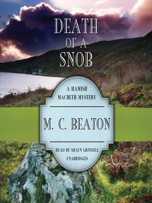 cover image of Death of a Snob