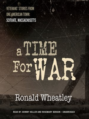 cover image of A Time for War