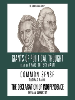 cover image of Common Sense and The Declaration of Independence