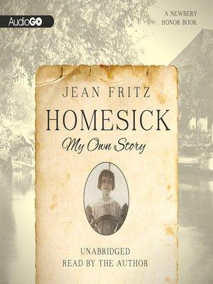 Jean fritz overdrive rakuten overdrive ebooks audiobooks and homesick fandeluxe Ebook collections