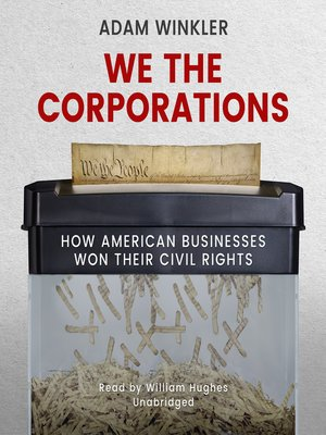 cover image of We the Corporations