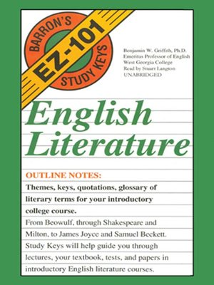 English Literature By Benjamin W Griffith Phd Overdrive Rakuten