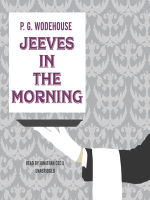 cover image of Jeeves in the Morning