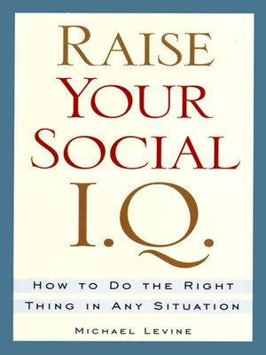 cover image of Raise Your Social I. Q.