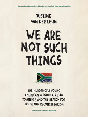cover image of We Are Not Such Things
