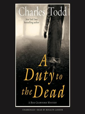 cover image of A Duty to the Dead