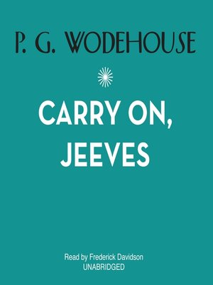 cover image of Carry On, Jeeves