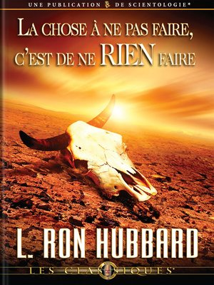 cover image of The Wrong Thing to Do is Nothing (French)