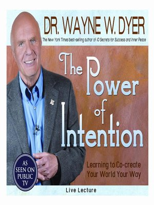 cover image of The Power of Intention