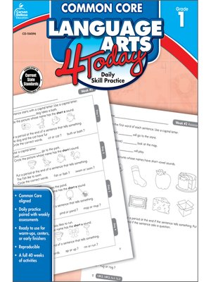 cover image of Common Core Language Arts 4 Today, Grade 1