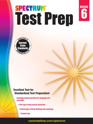 cover image of Spectrum Test Prep, Grade 6