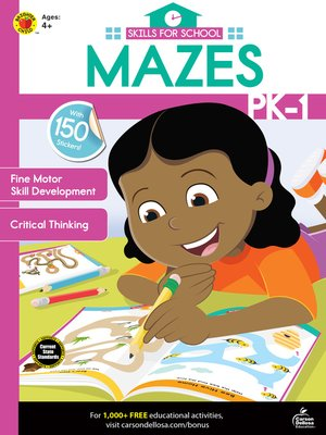 cover image of Skills for School Mazes, Grades PK--1