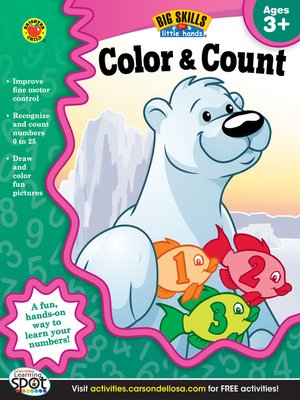 cover image of Color & Count, Grades Preschool - K