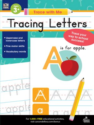 cover image of Trace with Me Tracing Letters