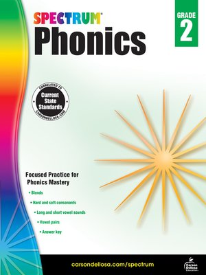 cover image of Spectrum Phonics, Grade 2