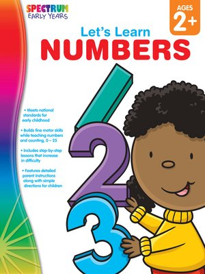 cover image of Let's Learn Numbers, Grades Toddler - PK