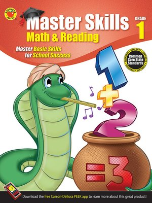 cover image of Math & Reading Workbook, Grade 1