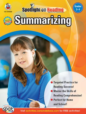 cover image of Summarizing, Grades 3 - 4