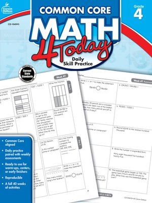 cover image of Common Core Math 4 Today, Grade 4