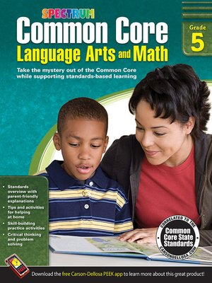 cover image of Common Core Language Arts and Math, Grade 5