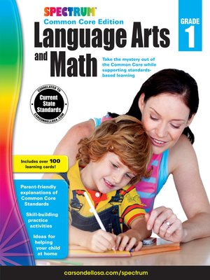cover image of Spectrum Language Arts and Math, Grade 1