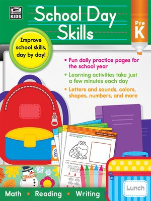 cover image of School Day Skills, Grade PK