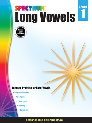 cover image of Long Vowels, Grade 1