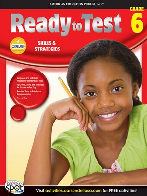 cover image of Ready to Test, Grade 6