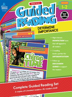 cover image of Ready to Go Guided Reading: Determine Importance, Grades 1-2