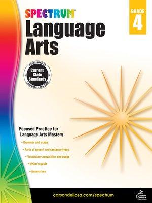 cover image of Spectrum Language Arts, Grade 4