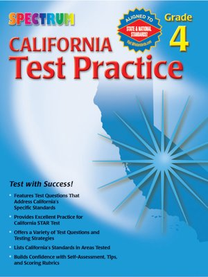 cover image of California Test Practice, Grade 4